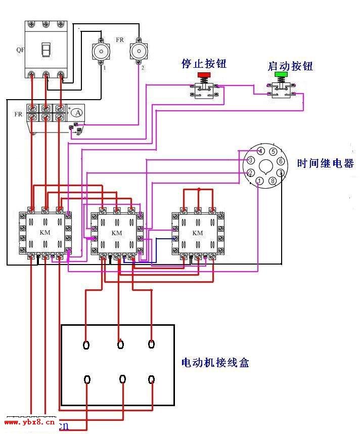 电机正反转原理图 星三角启动电路_电工基础知识_电工