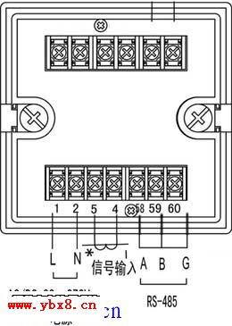 电工基础主页 电工最常见电路  数显电流表接线图
